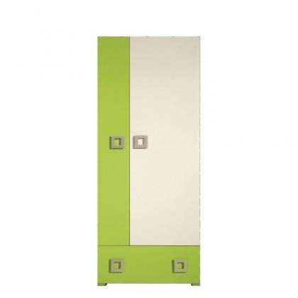 Skřín Skříň LABYRINT LA 1 (krémová/limetka)