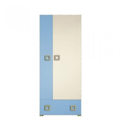 Skřín Skříň LABYRINT LA 1 (krémová/modrá)