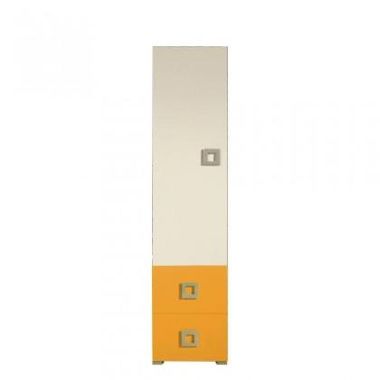 Skřín Skříň LABYRINT LA 3 L/P (krémová/oranžová)