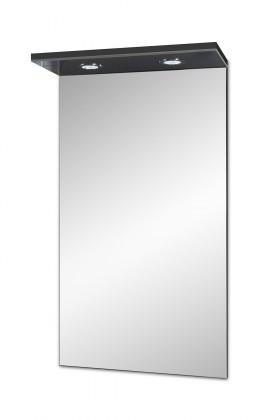 Skříňka nad umyvadlo Brisbane - zrcadlová skříň, LED osvětlení (antracit)