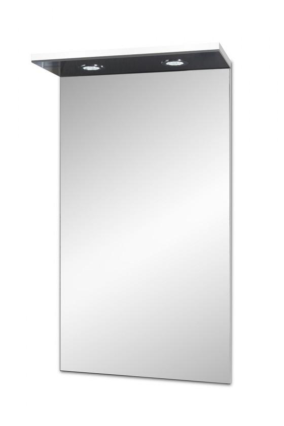 Skříňka nad umyvadlo Brisbane - zrcadlová skříň, s LED osvětlením (bílá)