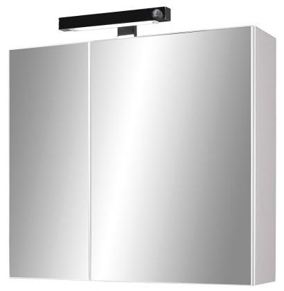 Skříňka nad umyvadlo Inge - zrcadlová s osvětlením (bílá)
