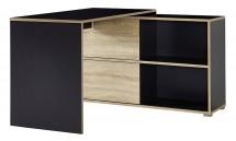 Slide - stůl se skříňkou (antracit/dub sonoma)