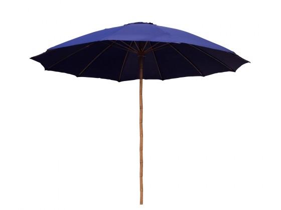 Slunečník Bambusový slunečník 300 cm (modrá)