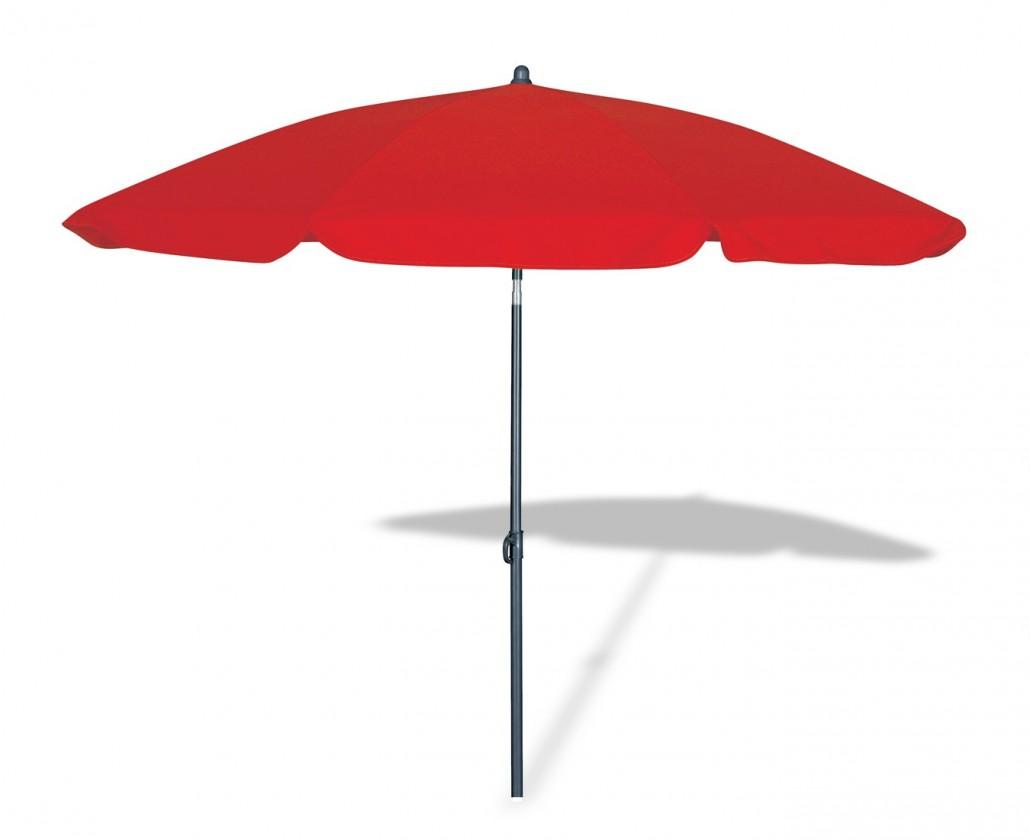 Slunečník Malibu - Slunečník, 180cm (červená)