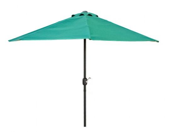 Slunečník Půlkruhový slunečník 270x135 cm (zelená)