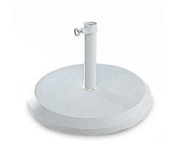 Slunečník Stojan betonový, 25 kg, bílý (bílý)