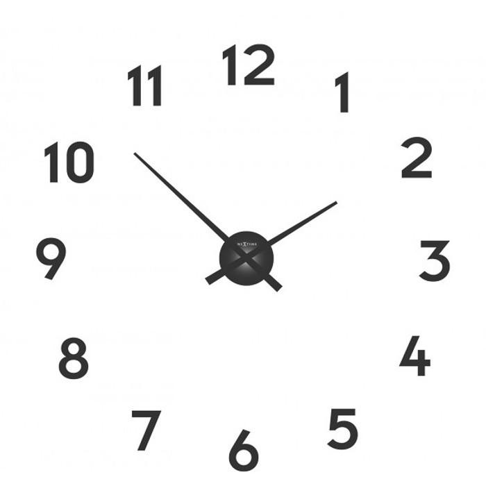 Small hands - hodiny, nástěnné, kulaté (kov, černé)