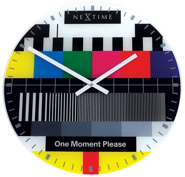 Small testpage - hodiny, nástěnné, kulaté (sklo, barevné)