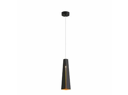 SMD LED Pluma - Závěsné svítidlo (černá/zlatá)