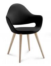 Soft-l - Jídelní židle (černá)