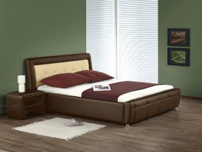 Soho - Postel 200x160, rám postele, ÚP, rošt (hnědo-béžová)