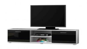 Soho - TV komoda (bílý mat / černá lesk, RTV '180')