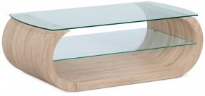 Son - Konferenční stolek, zaoblené hrany (sonoma, sklo)