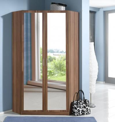 Sprint - rohová skříň,175 cm,2x zrcadlo (francouzský ořech)