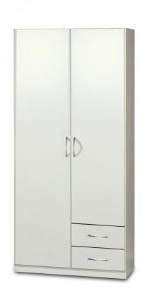 Sprint - skříň 90 cm,2x dveře,2x zásuvka (alpská bílá)