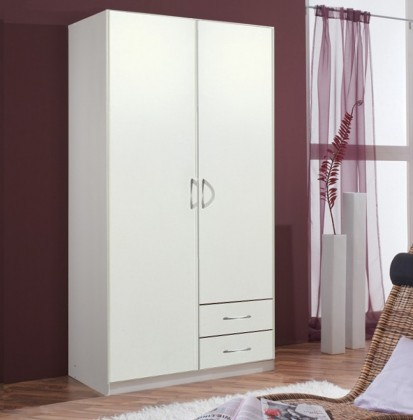 Sprint - skříň 90 cm,2x dveře,3x police,1x tyč (alpská bílá)