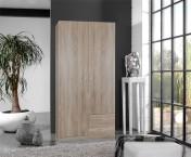 Sprint - skříň 90 cm,2x dveře,3x police (dub hrubá struktura)