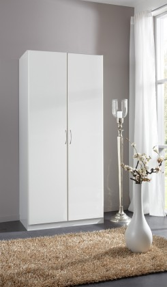 Sprint - skříň 90 cm,2x dveře,4x police,1x tyč (alpská bílá)