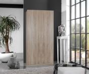 Sprint - skříň 90 cm,2x dveře,4x police (dub hrubá struktura)