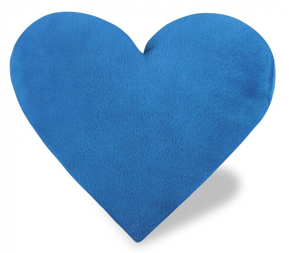 Srdce - Polštářek, korall micro (modré)
