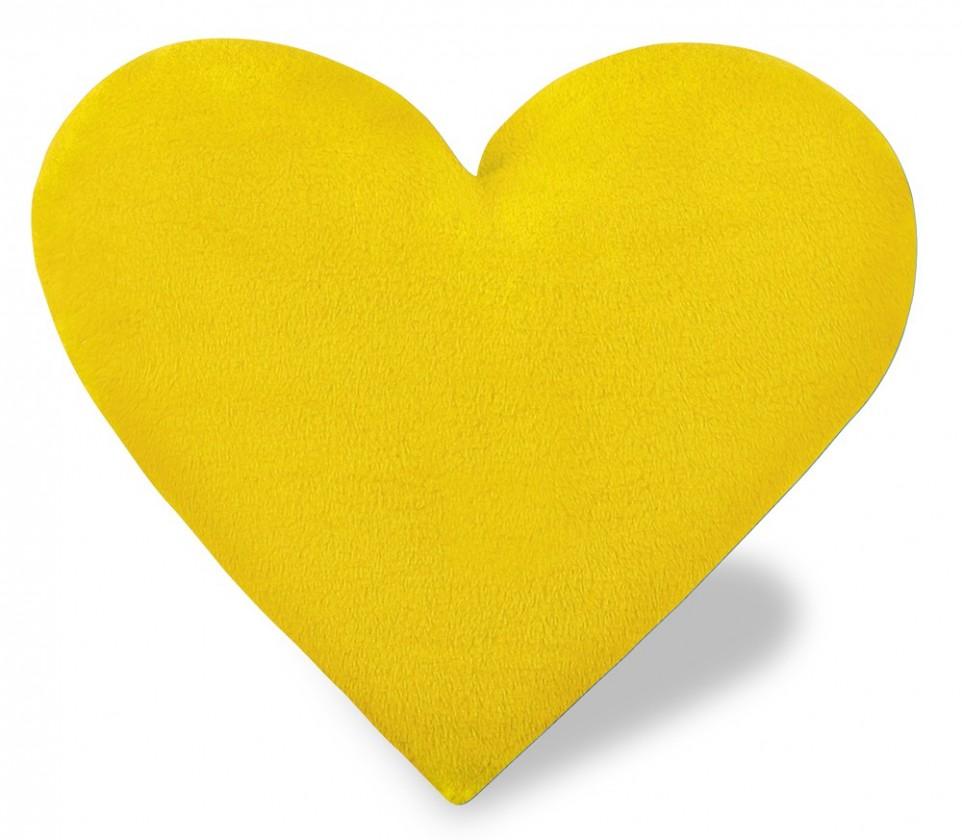Srdce - Polštářek, korall micro (žluté)
