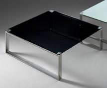 Stain - Konferenční stolek (černá, 80x80 cm) - II. jakost