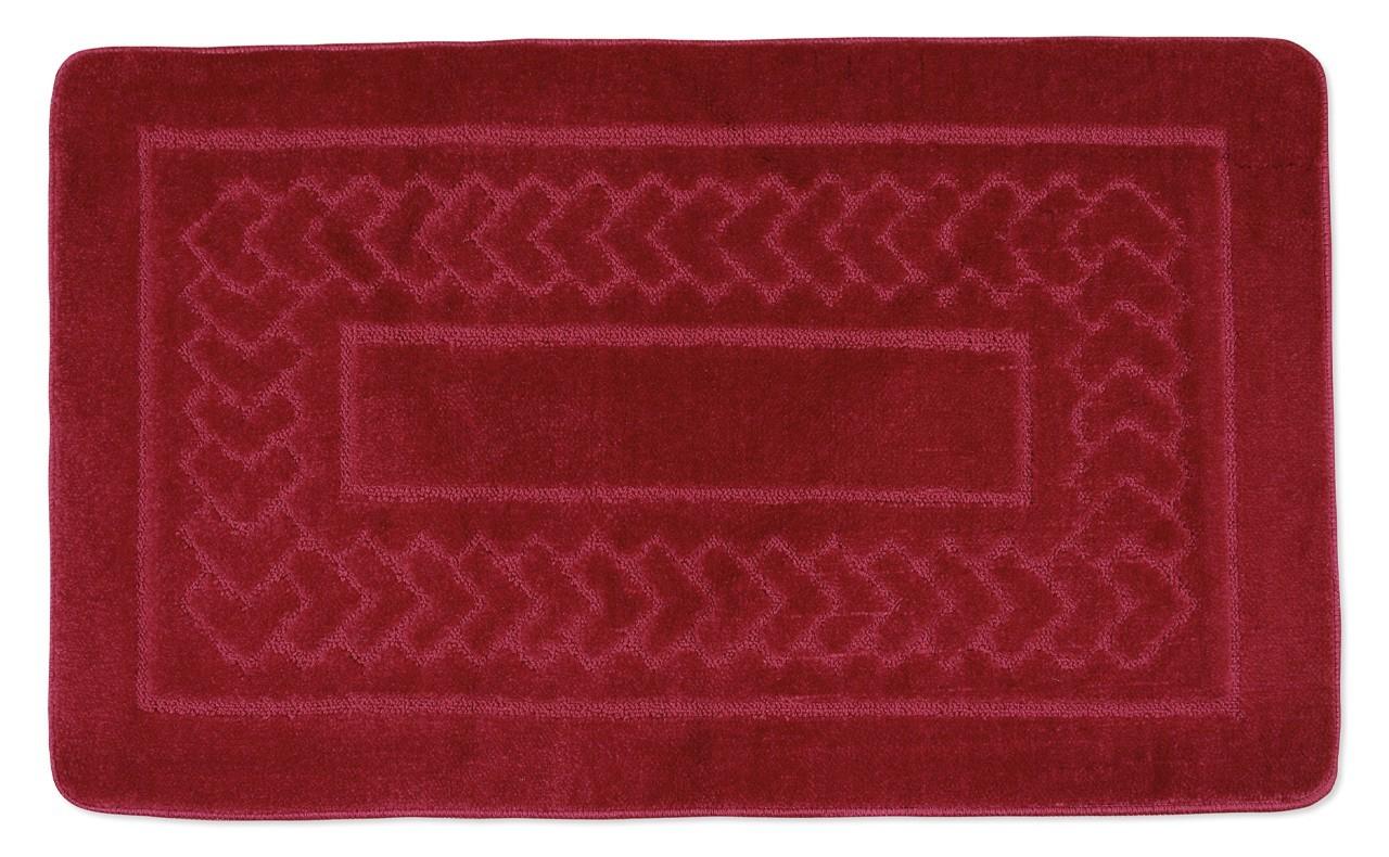 Standard - Koupelnová předložka 60x100 (červené bolzáno)