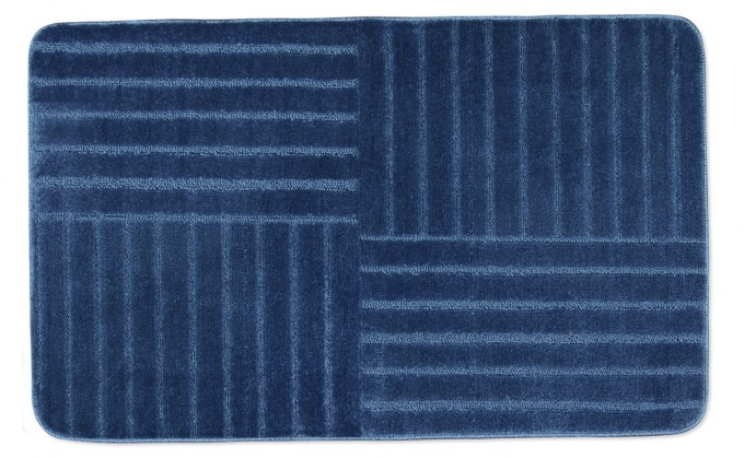 Standard - Koupelnová předložka 60x100 (modré pruhy)