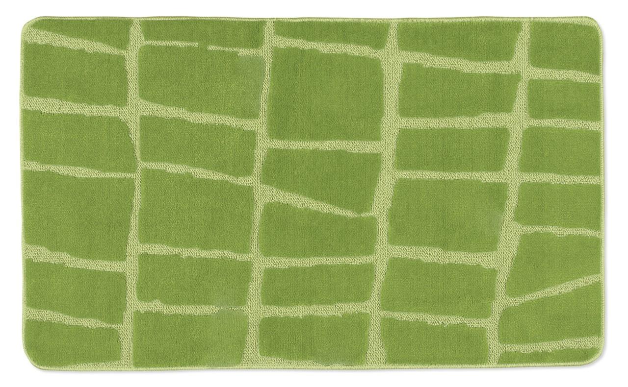 Standard - Koupelnová předložka 60x100 (zelená kostka)