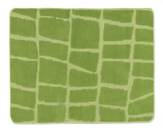 Standard - Koupelnová předložka 60x50 (zelená kostka)