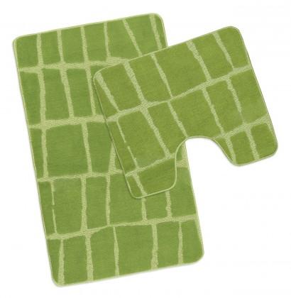Standard - Koupelnová sada 50x80 + 50x40 (zelená kostka)