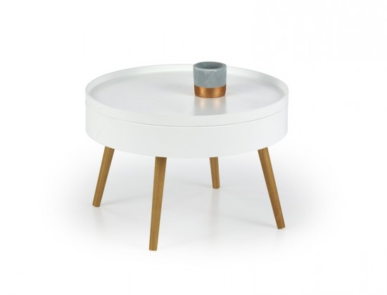 Starlet - Konferenční stolek (bílá, dub sonoma)