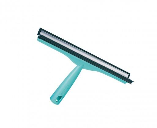 Stěrka na okna 30 cm dvojitá (tyrkysová)
