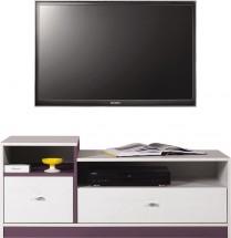 Stone - TV stolek ST9 (bílá, fialová)