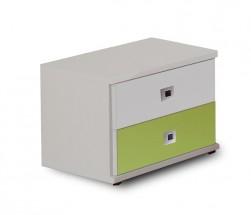 Sunny - Noční stolek (alpská bílá se zeleným jablkem)