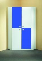 Sunny - Skříň rohová (alpská bílá s modrou)