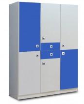 Sunny - Skříň třídveřová (alpská bílá s modrou)