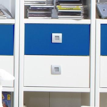 Sunny - Zásuvka k regálům (alpská bílá s modrou)