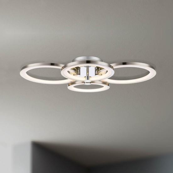 Surrey - Stropní osvětlení, LED (matný nikl/chrom)