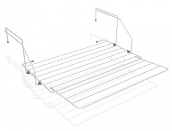 Sušák balkónový, nastavitelný, 61x61x2 cm (bílý)