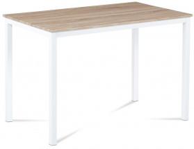 Tablo - Jídelní stůl 110x70 cm (bílý kov/sonoma)