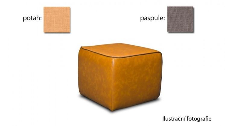Taburet Case - (k:carezza - mud B139,sk.3S/m:carezza - honey B126,sk.3S)