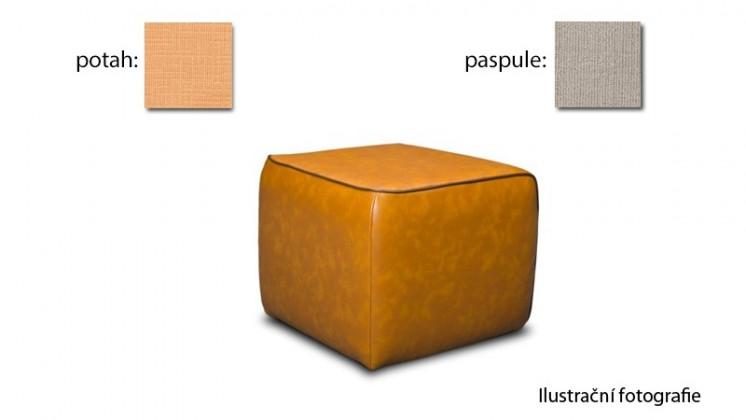 Taburet Case -(k:carezza - sand B132,sk.3S/m:carezza - honey B126,sk.3S)