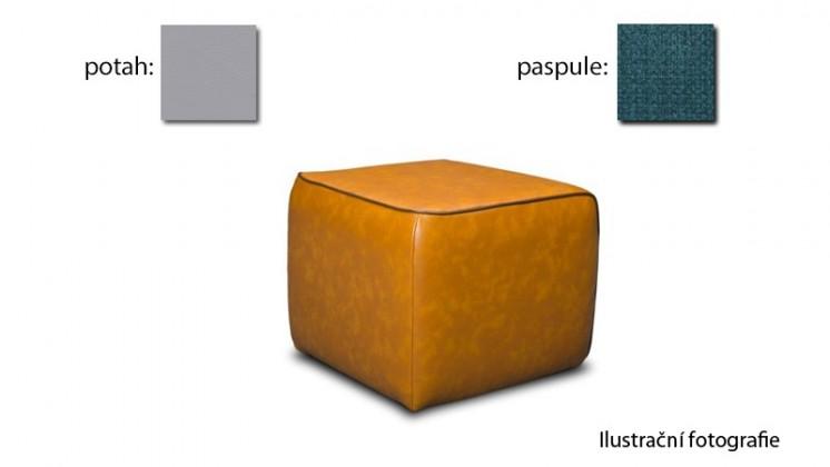 Taburet Case - (k:happy petrol N303,sk.3S/m:puls light gray D201,sk.2S)