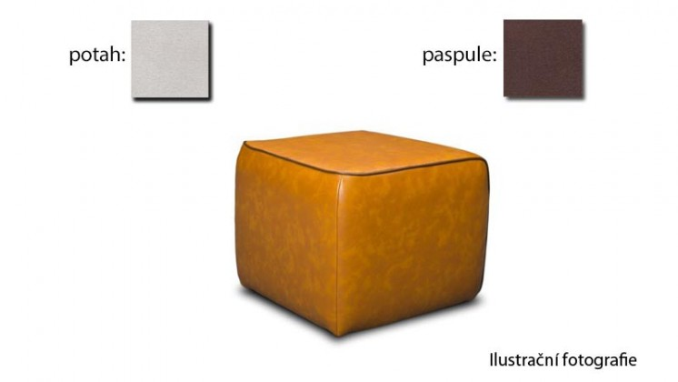 Taburet Case -(k:newlucca-espressoP711,sk.2s/m:newlucca-snow P706,sk.2s)