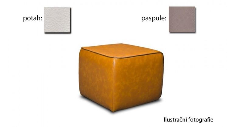 Taburet Case - (k:pelleza-argent W103,sk.3S/m:pelleza-white W100,sk.3S)