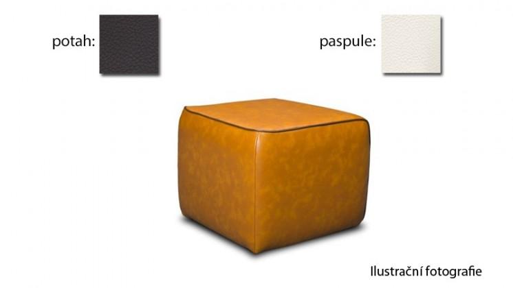 Taburet Case -(k:pelleza-cream W101,sk.3S/m:pelleza-espresso W105,sk.3S)
