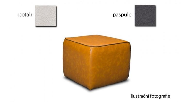 Taburet Case - (k:pelleza-fango W107,sk.3S/m:pelleza-white W100,sk.3S)