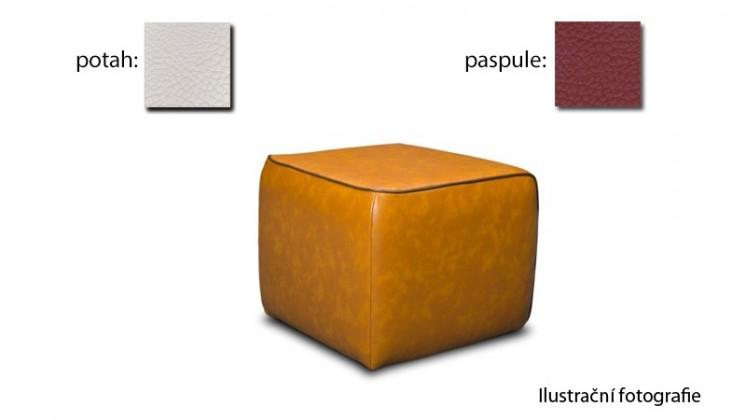 Taburet Case - (k:pelleza-vino W110,sk.3S/m:pelleza-white W100,sk.3S)